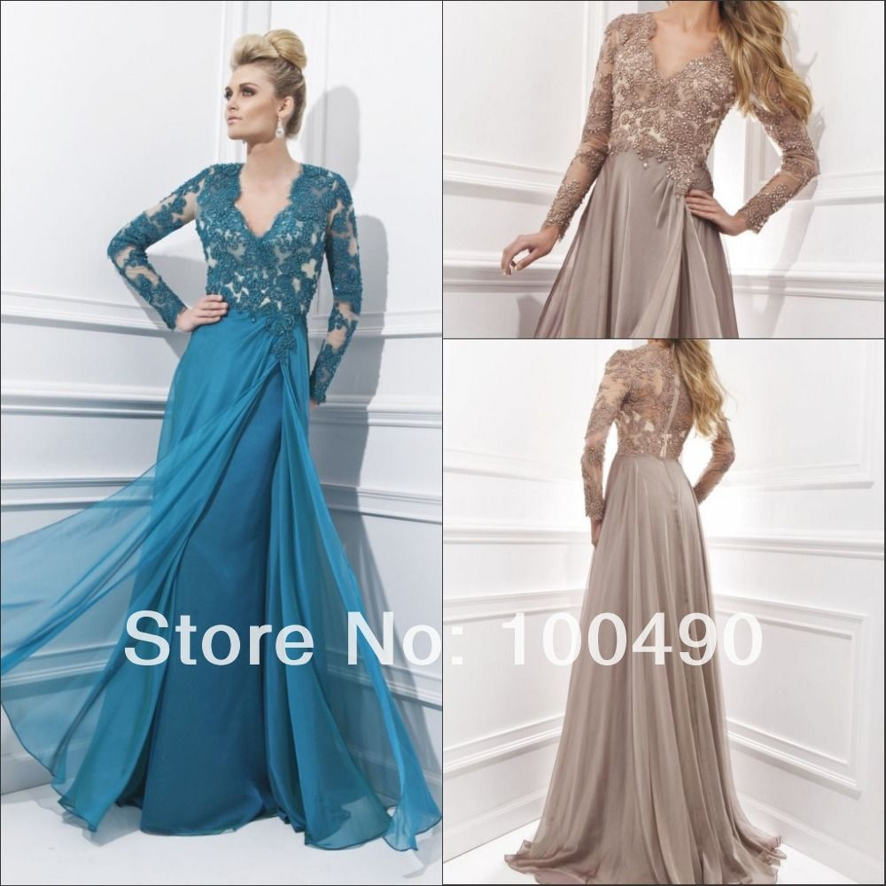 Turquoise Blue Long sleeves Muslim Formal gowns Maxi evening dresses ...