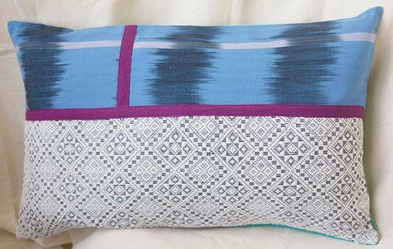15x25 Inch Lumbar Pillow Cushion Cover Ikat And Ilocos