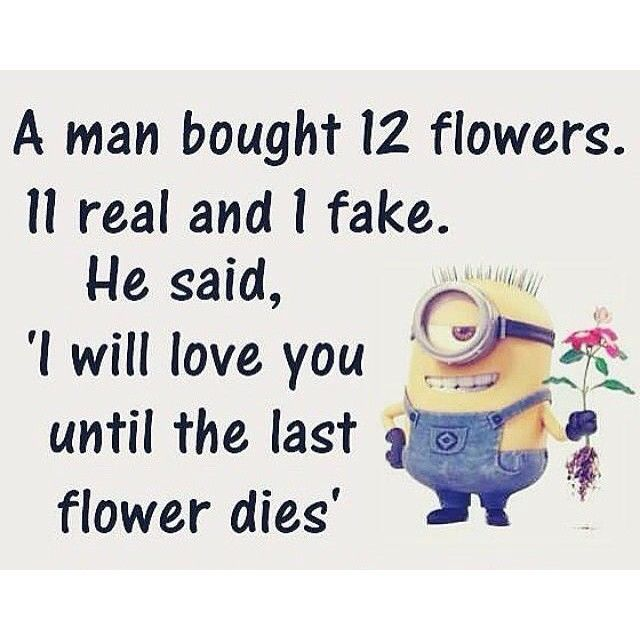 I Will Love You Until The Last Flower Dies Minion Love Quotes Minions Love I Love You