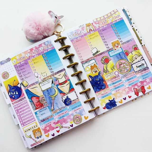 Who Loved Sailor Moon Planner Plannercommunity