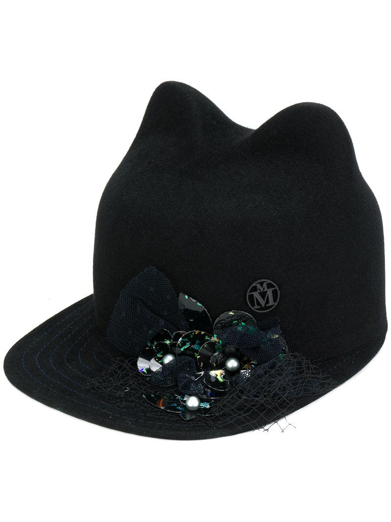 Genuine Cheap Price Outlet Get Authentic Maison Michel embellished cats ears cap Cost For Sale 2018 New For Sale Hot Sale Cheap Online VVbOH73Pg