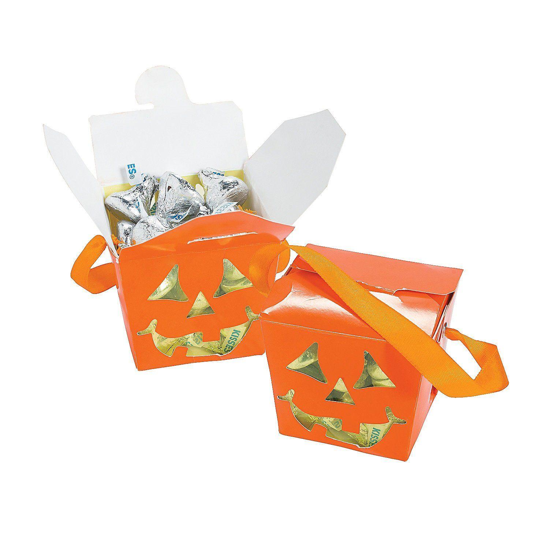 Jackolantern Take Out Boxes Halloween