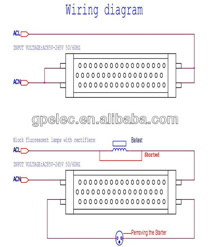 Led Tube Light Wiring Diagram Led Fluorescent Light Led Tube Light Led Fluorescent