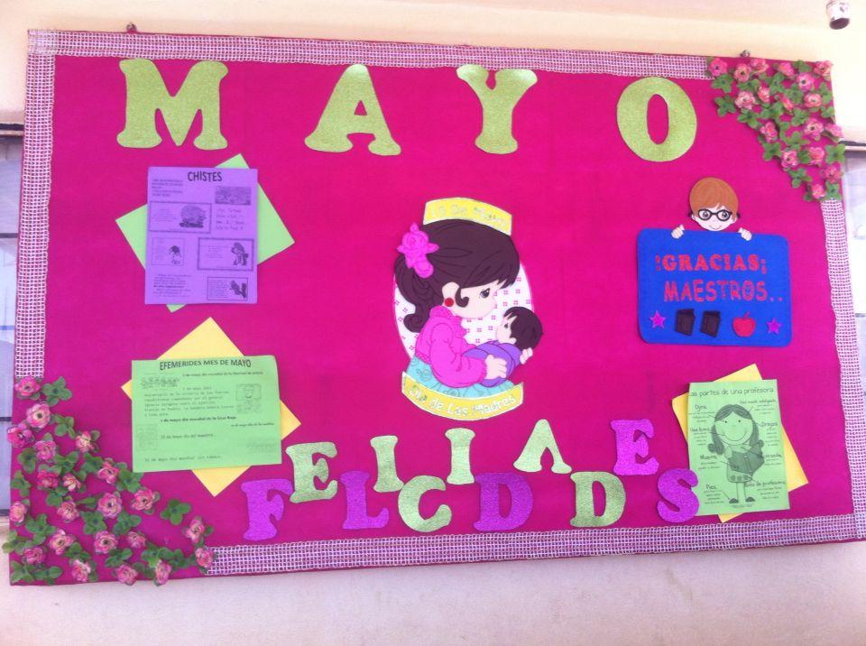 Mayo peri dico mural d a de las madre efemerides for Puertas decoradas para el 10 de mayo