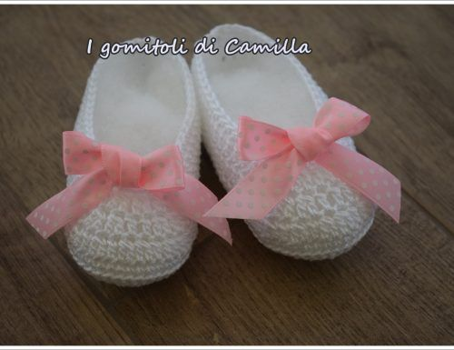 Photo of Scarpine a uncinetto modello ballerine: i tutorial di Camilla