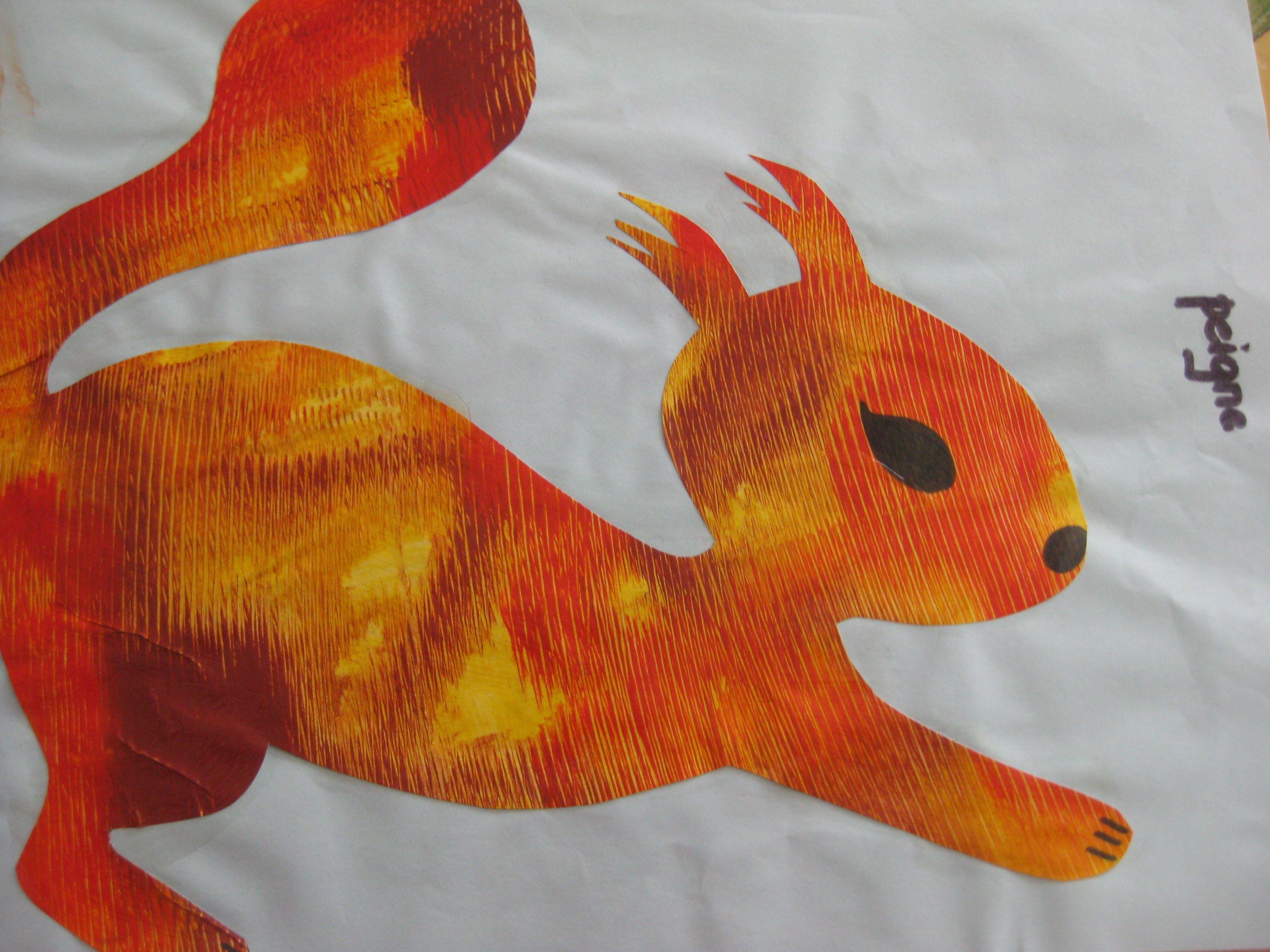 brushed squirrel ecureuil peinture peign e arts visuels maternelle pinterest cureuil. Black Bedroom Furniture Sets. Home Design Ideas