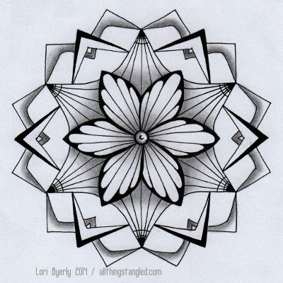 one zentangle a day: day 35 © Lori Byerly | Projecten om te proberen ...