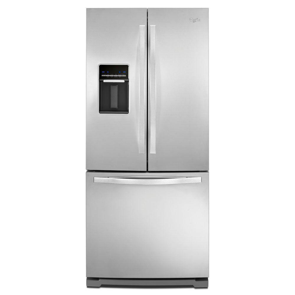Whirlpool 19 7 Cu Ft French Door Refrigerator In Monochromatic