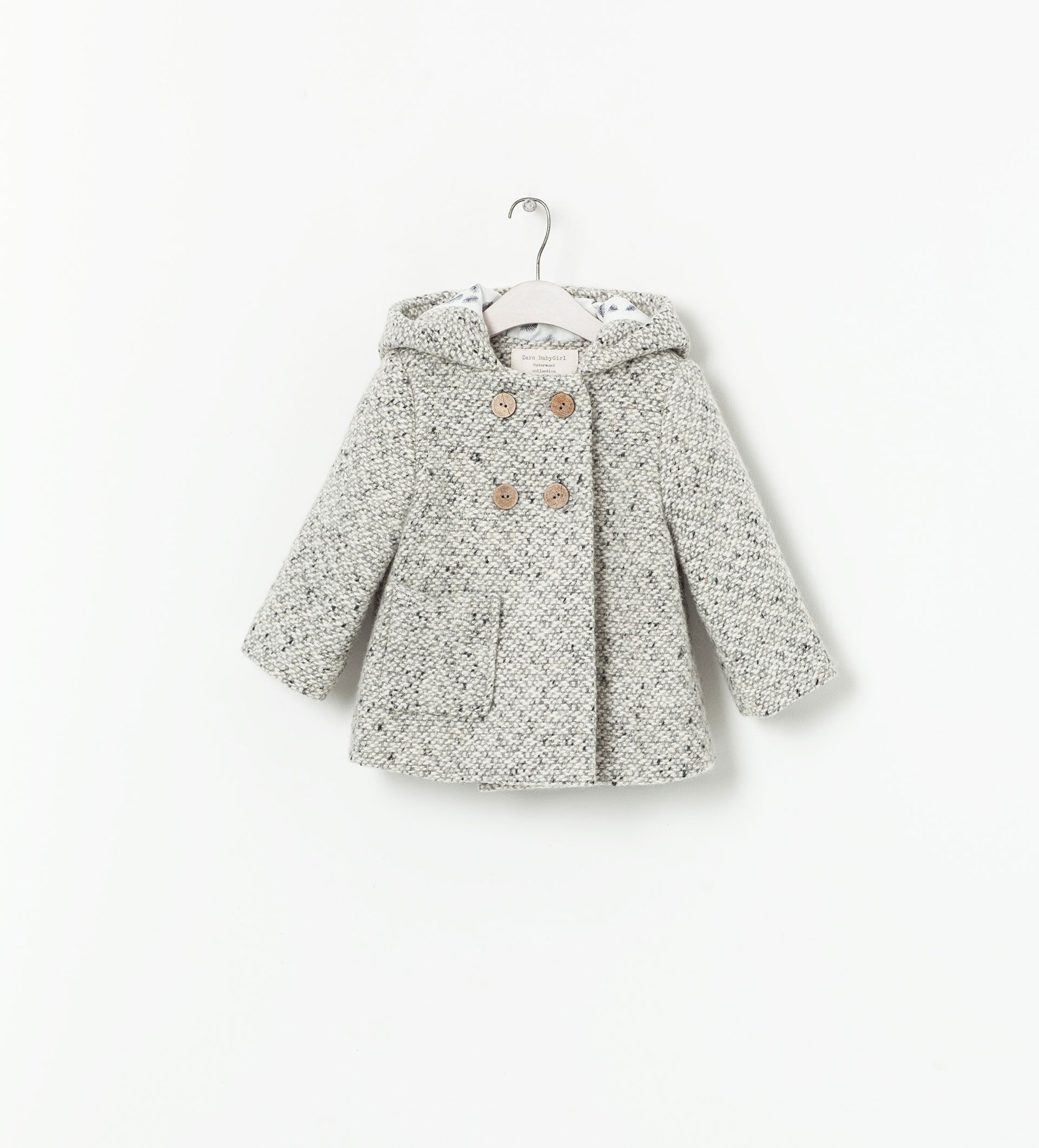 Hooded Coat With Ears Coats Baby Girl 3 36 Months Kids Zara United States Ropa De Chicas