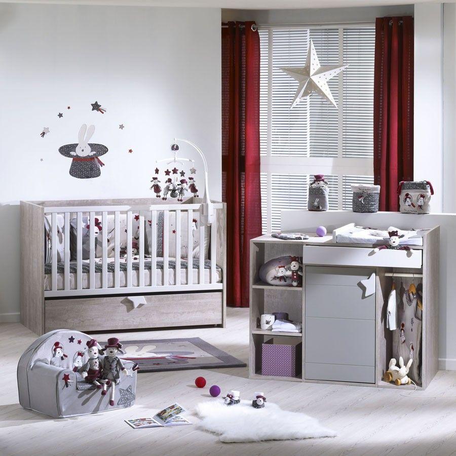 chambre nova avec lit volutif 70x140 cm chambre bebe. Black Bedroom Furniture Sets. Home Design Ideas