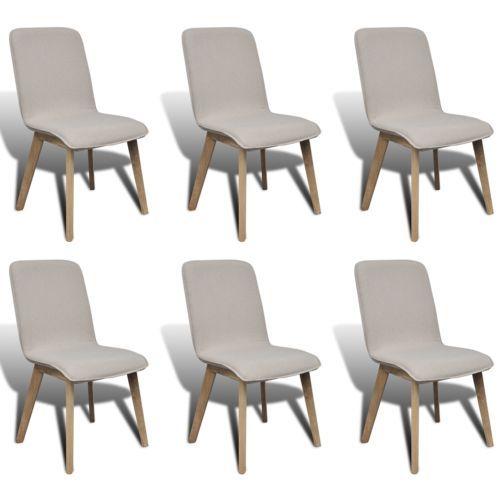 Attraktiv 6x St Hle Stuhl Stuhlgruppe Hochlehner Esszimmerst Hle Esszimmer Beige  Eiche S