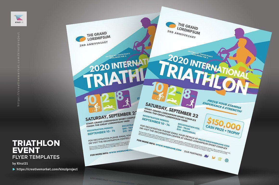 Triathlon Event Flyer Templates Event Flyer Templates Flyer Template Event Flyer