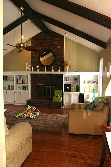 Living Room Wood Paneling Makeover: Awesome Before And After Painting Wood Paneling!!
