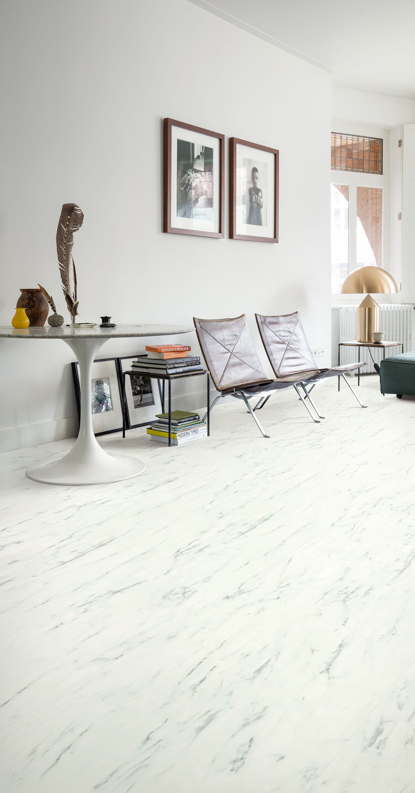 Quick-Step Vinyl Flooring - Ambient Click \'Marble Carrara Whit ...