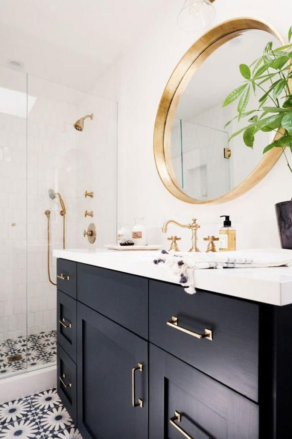 White And Gold Bathroom. Foam Bubbles Black And White And Gold Bathrooms 03