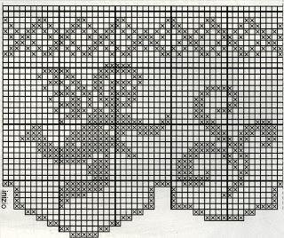 Schemi per il filet bordi con angeli uccelli e farfalle for Farfalle punto croce schemi