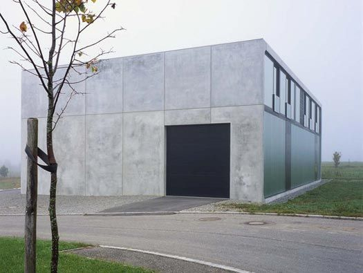 haus bold by thomas bendel architekt via architonic an austere house made of precast concrete. Black Bedroom Furniture Sets. Home Design Ideas