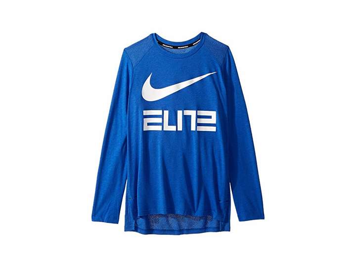 0ecb84e6bd Nike Dry Elite Basketball Long Sleeve Top (Little Kids/Big Kids ...