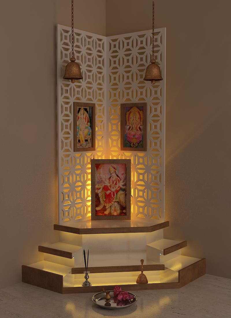 Best Pooja Room Design by Interior Designer kamlesh maniya India