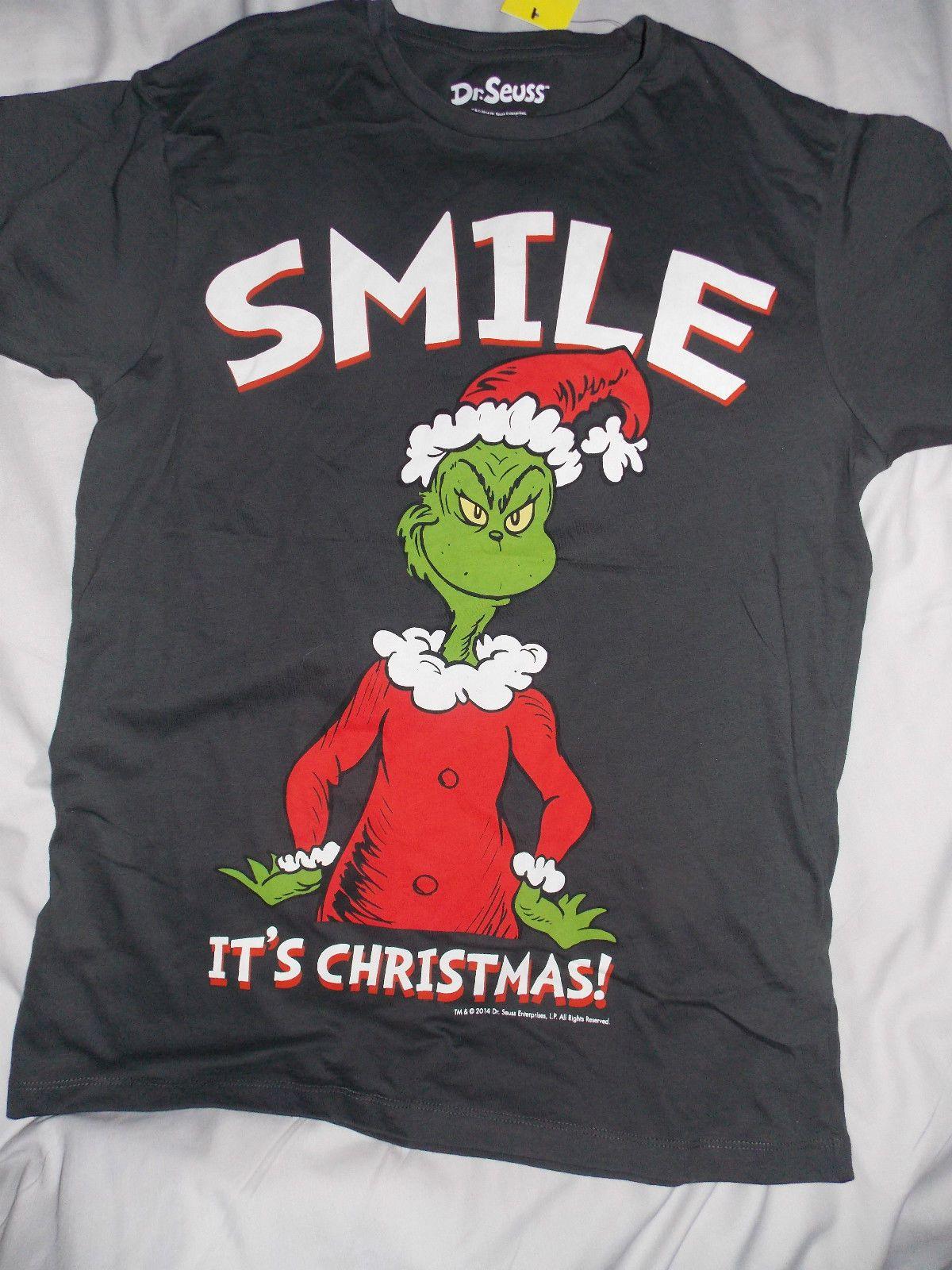 Black xmas t shirt - The Grinch Grin Christmas Tee Shirt