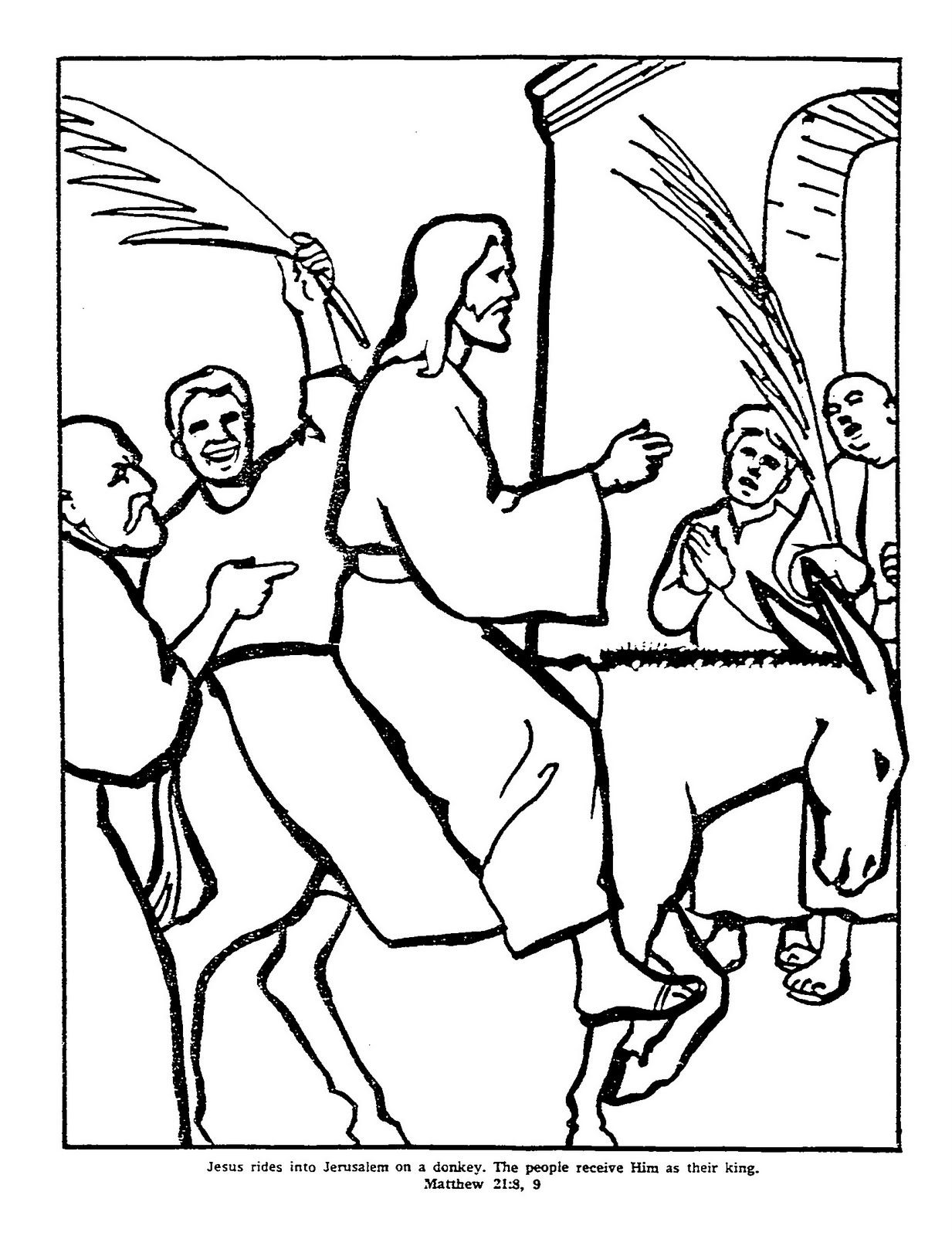 Jesus_Rides_+on_Donkey_palm_sunday_coloring_page_picture.jpg (1233 ...