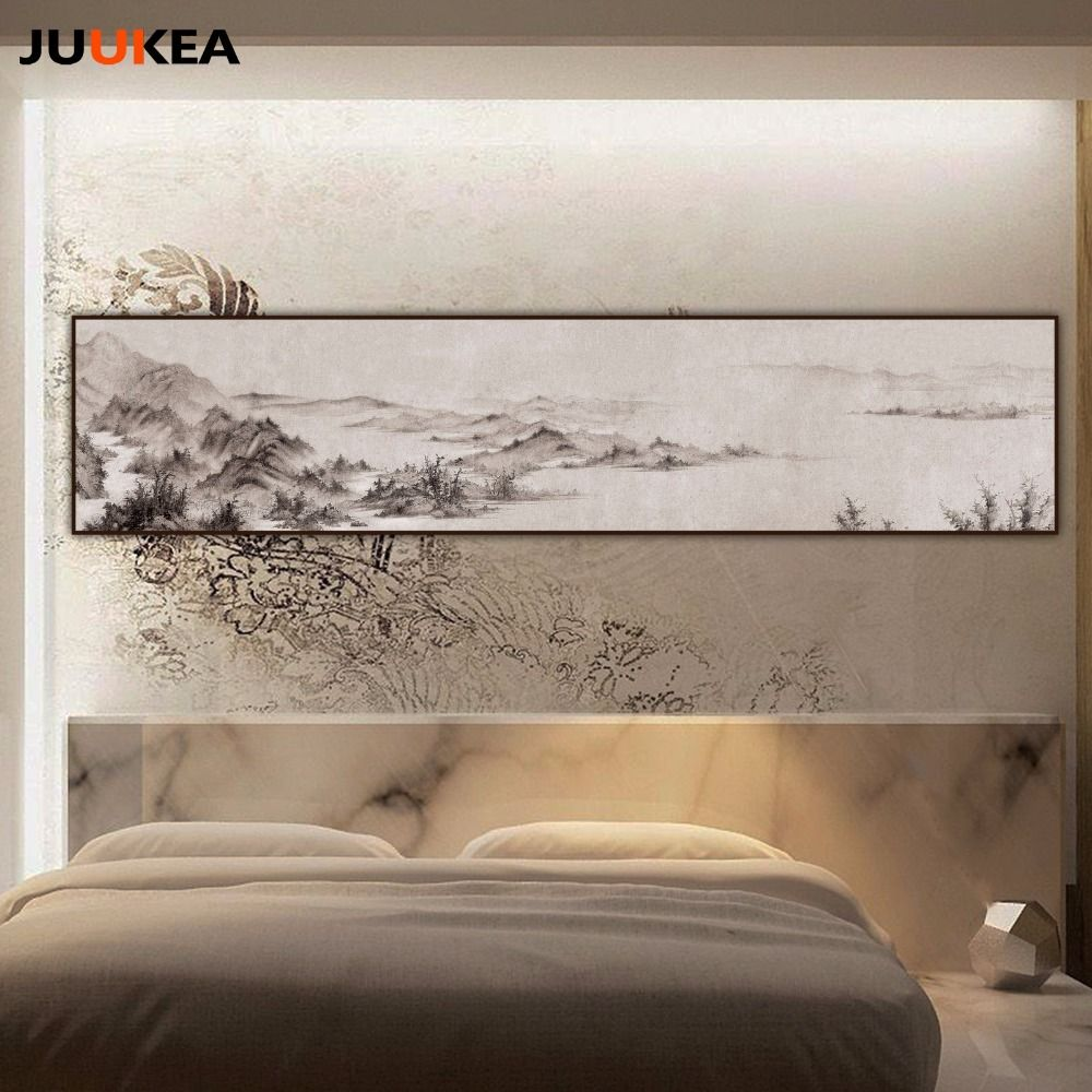 Pas Cher Chinois Noir Blanc Du0027encre Claborate Style Peinture Énorme Taille  Toile Peinture Art, Mur Photos Pour Salon, Décor à La Maison, Acheter  Peinture Et ...