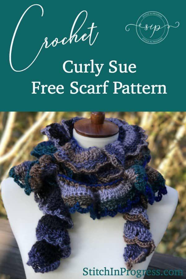 Free Crochet Scarf Pattern Curly Sue Scarf Free Crochet Scarf