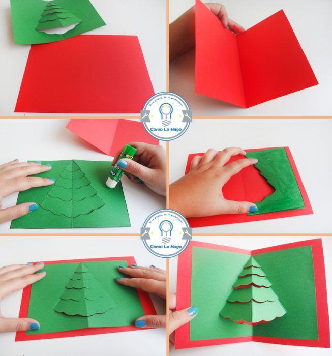 Tarjetas navidenas paso a paso arbol de navidad navidad - Manualidades navidenas paso a paso ...