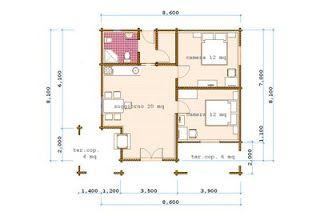 Progetti Di Case In Legno Casa 60 Mq Terrazza Coperta 10 Mq