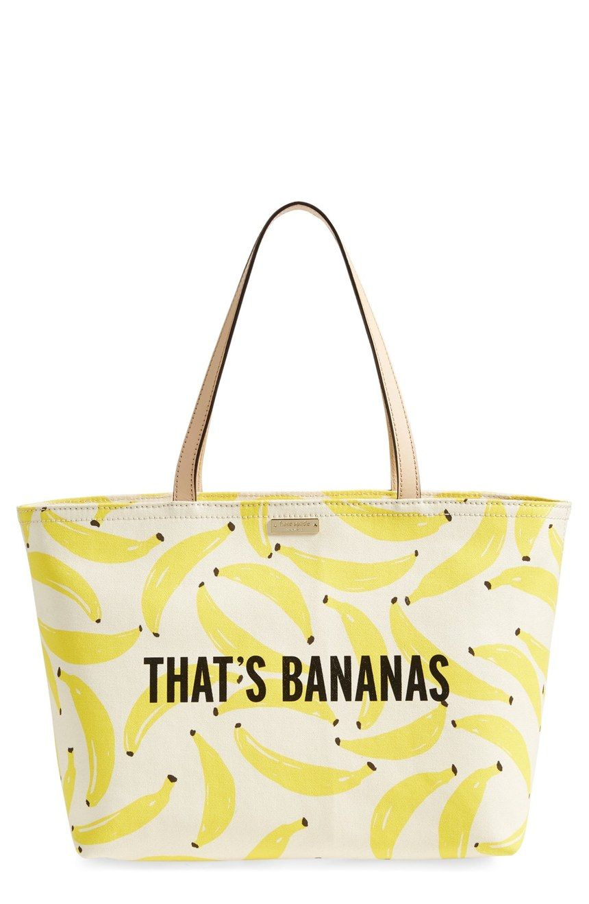 Adding this fun and bright banana printed tote to the collection just in time for the sunny weather.