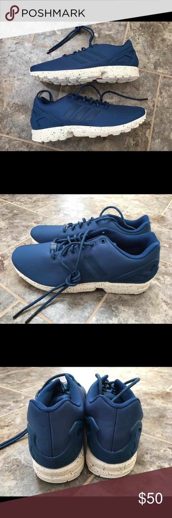 878ba7e3c064 adidas ZX Flux Tech Steel Utility Blue Size 12.5 New