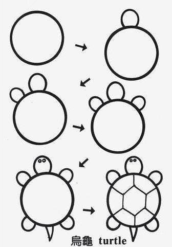 Kaplumbağa Cocuklar Için Drawings Art Ve Easy Drawings