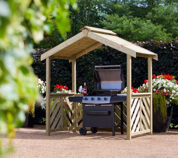 wood grill canopy - Google Search The Beautiful Out of Doors