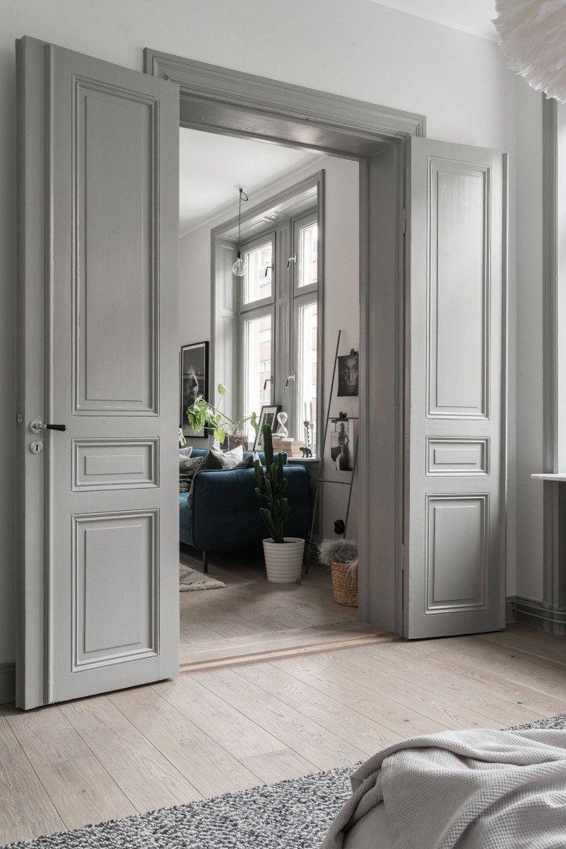 Photo of Hvite franske dører | Franske dører med glasspaneler | Dobbelt glasert internt …