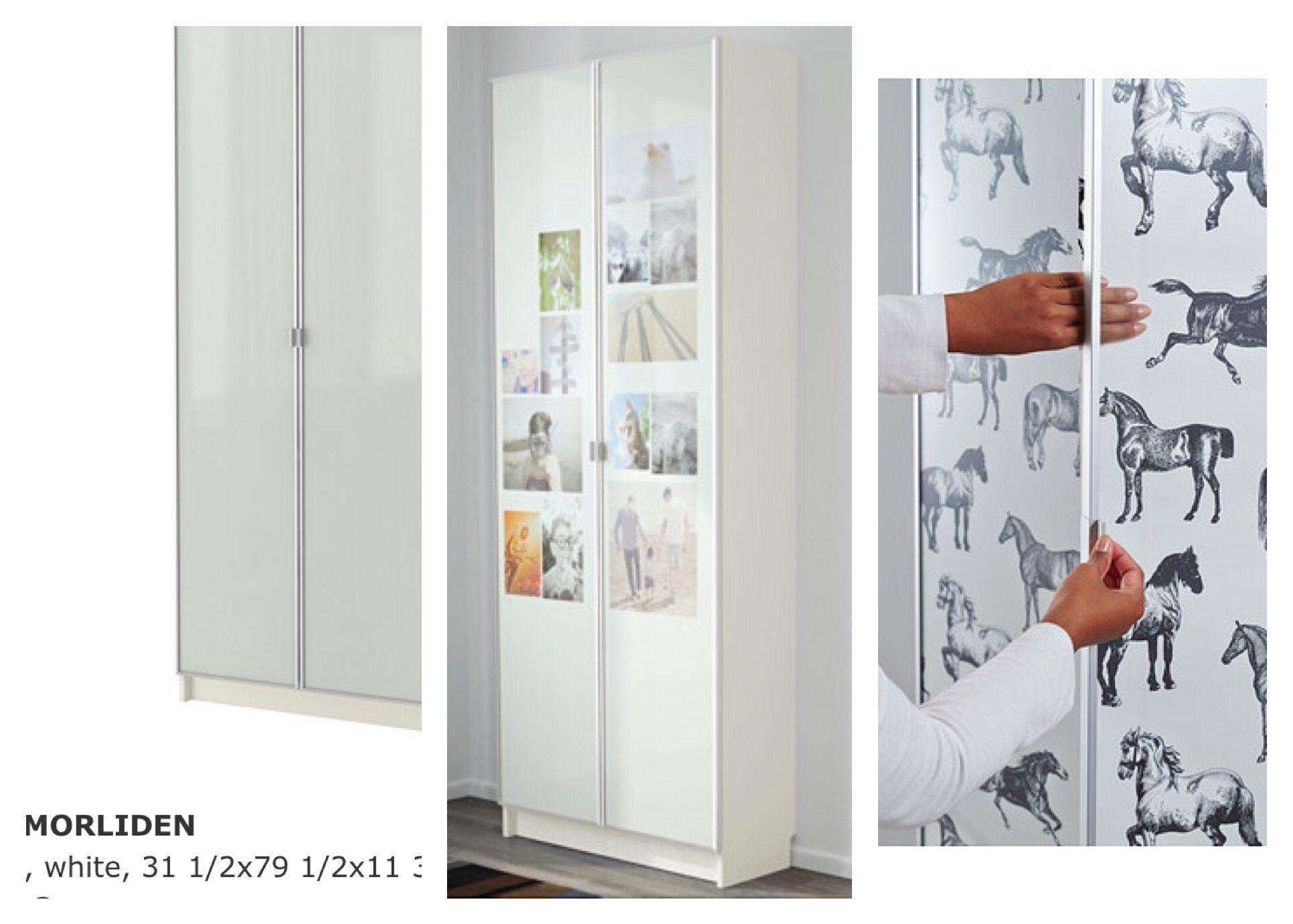 Billy With Morliden Glass Doors With Photos In Them Home Decor Ikea Billy Glass Door