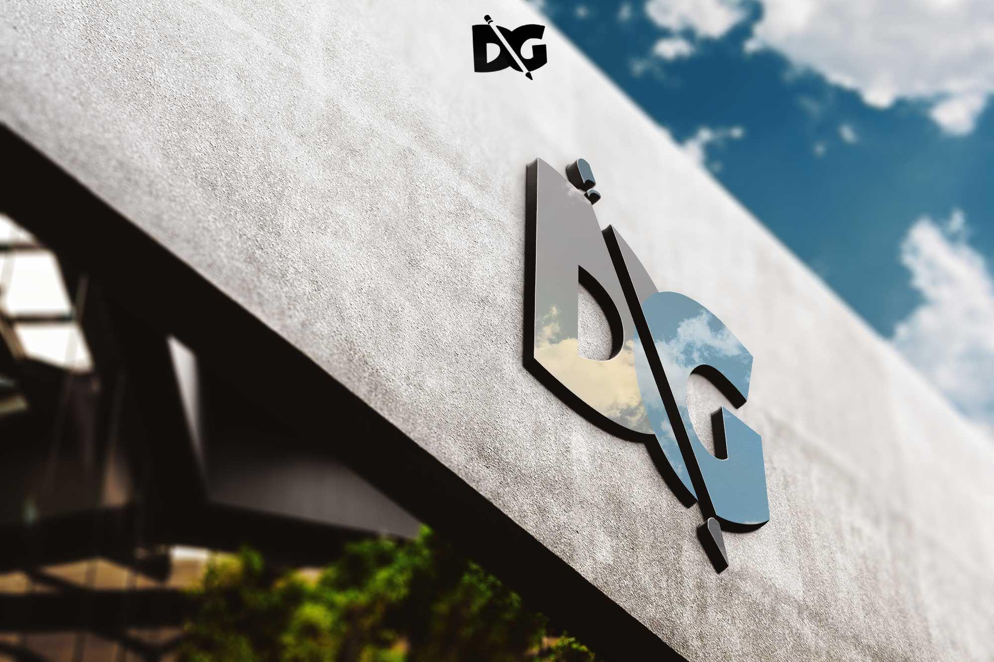 Mockups Wall Shine 3D Logo PSD 3DLogo 3DLogoPSD 3DPSD