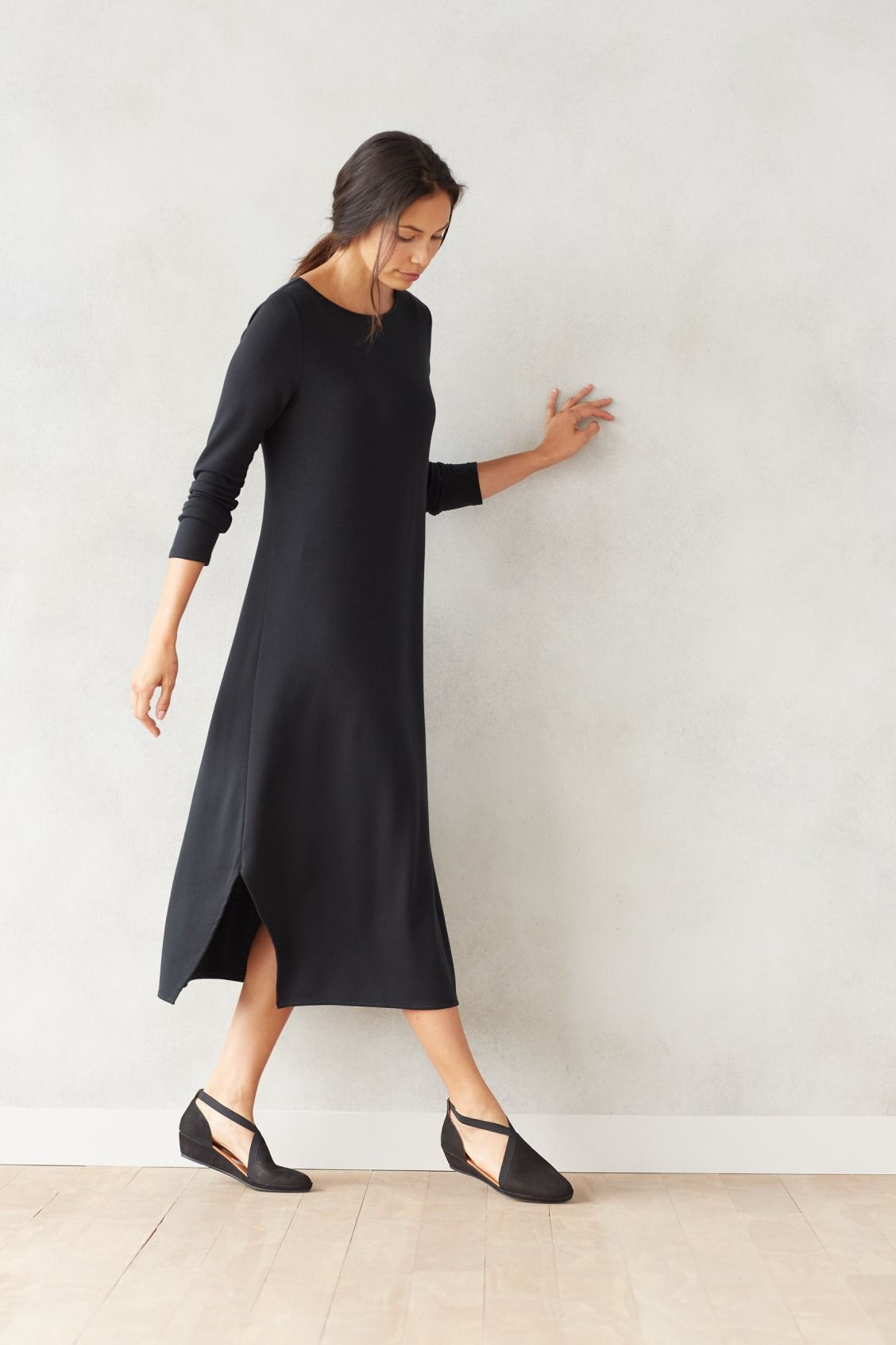 3eead528207 Comfort and ease (featuring the Pure Jill Luxe Tencel dipped-hem dress).