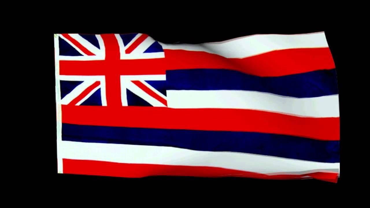 Free Hd Animated Hawai I State Flag Song Hawai I Pono I By The Roy Hawaii State Flag State Flags Flag