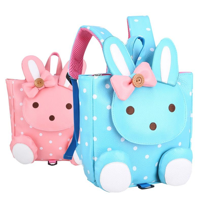 Retail Animal Design Children Boys Girls 3D Cute Rabbit School Bag  Anti-Lost Backpack Kids 9322b1c68cb73