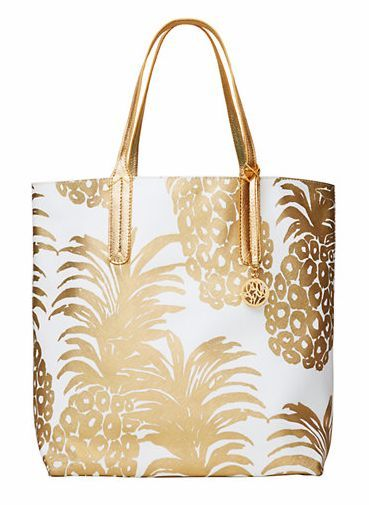 Pineapple gold tote bag - buy shopping bags online, leather black ...