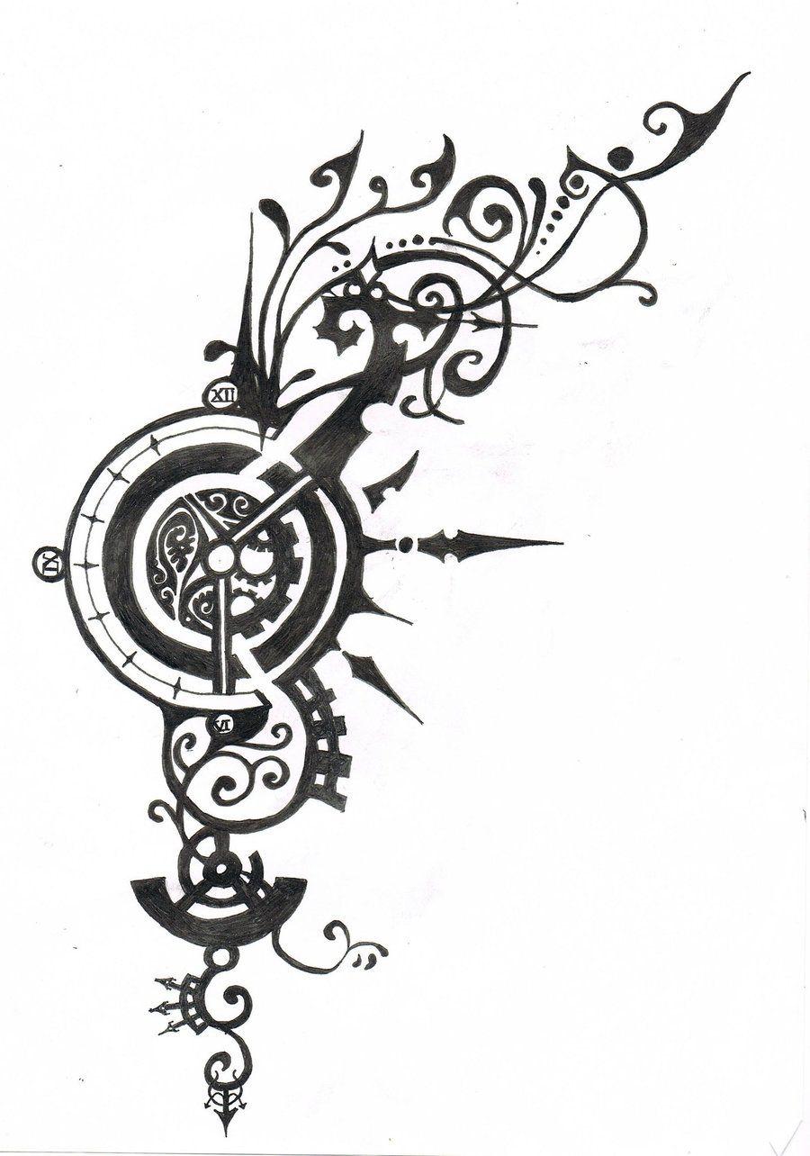 steampunk tattoo designs tattoo design tattoo design mad hatter sketch flickr photo. Black Bedroom Furniture Sets. Home Design Ideas
