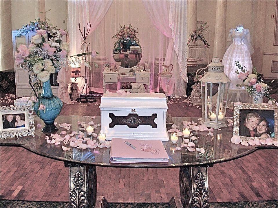 Mesa de ambientacion purple pink lilac shabby chic for Ambientacion para bodas