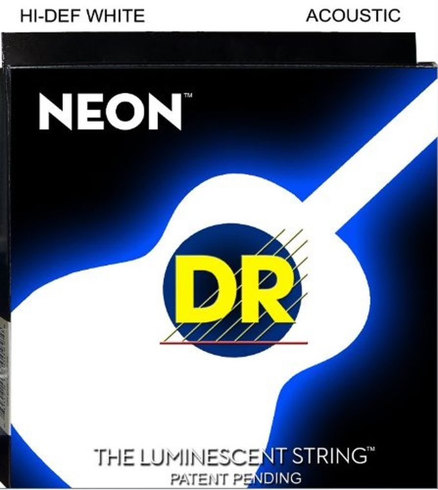 Icymi Dr Nwa 10 Neon White Acoustic Guitar Strings 10 48 Gauge Acoustic Guitar Strings Guitar Strings Acoustic