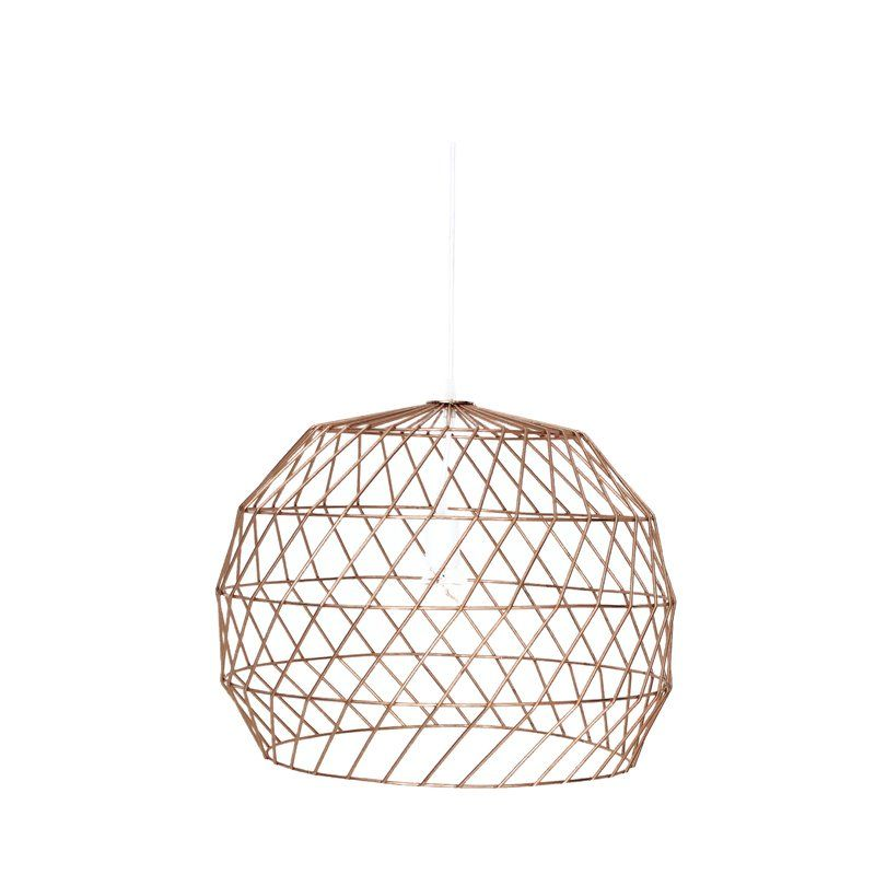 Urban Outfitters Bamboo Woven Pendant Light