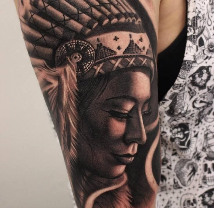 Imagespace Native American Half Sleeve Tattoos For Women
