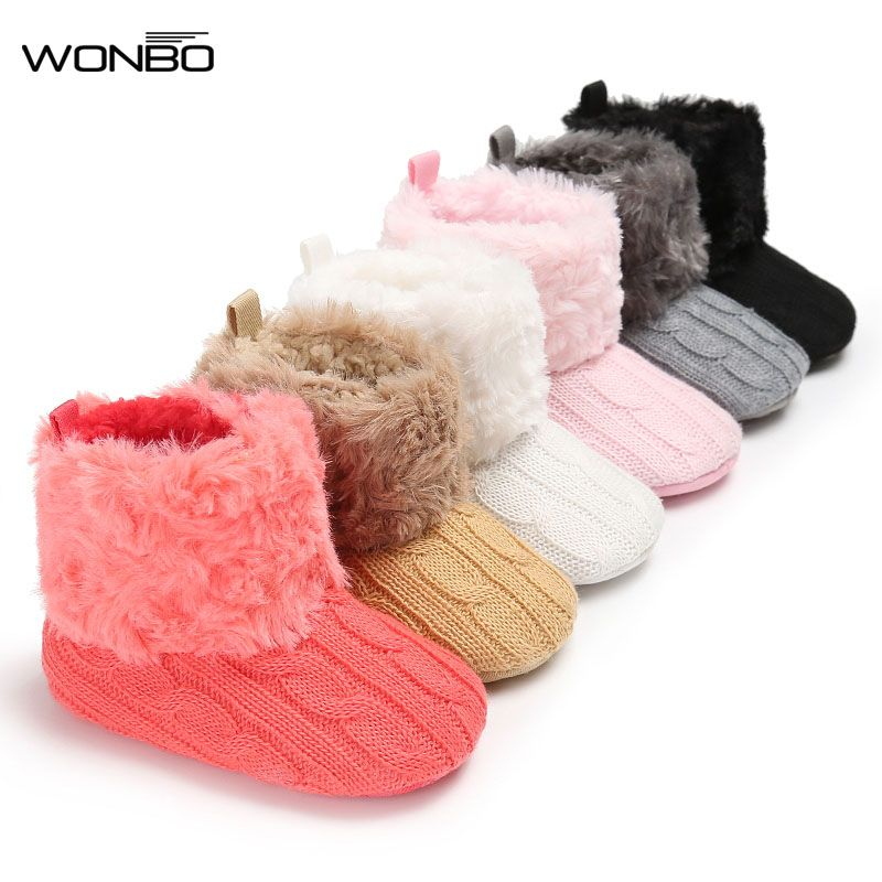 Hot Sale Newborn Baby Boy Girl Snow Boots Shoes Kids Toddler Girls Soft Sole Moccasin Shoes Infantil Winter Warm Crochet Prewalker Boots Boots