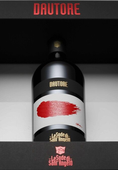 Dautore IGT Maremma Toscana by Sodesantangelo winery A unique label for a unique wine created by the italian artist Paolo Golinelli