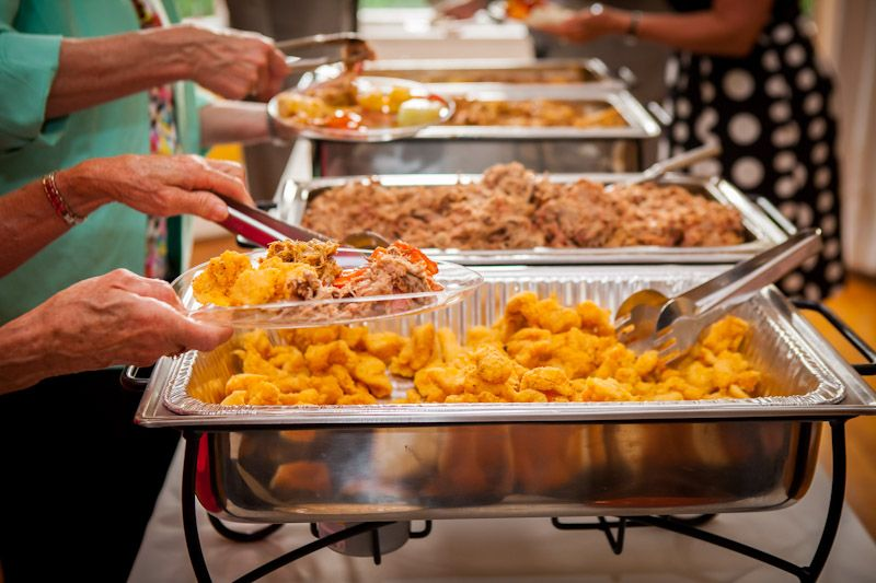 Docs BBQ And Catering Catfish Nuggets Wedding Buffet Southern Chic
