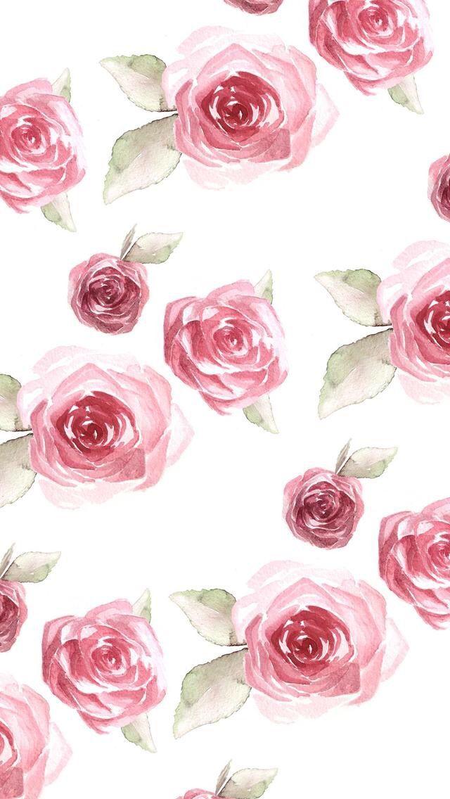 Red Roses Flower Pattern