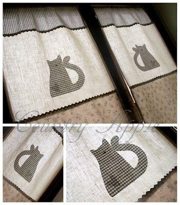 me gusta la idea de las cortinas con gato